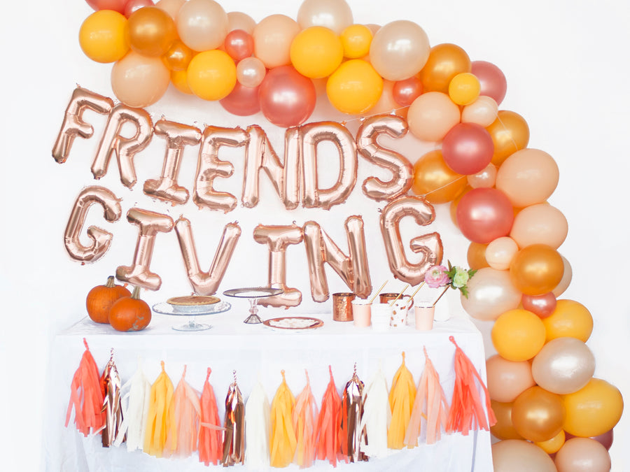 Balloon Garland Kit -  Pumpkin Pie - for Thanksgiving / Friendsgiving DIY