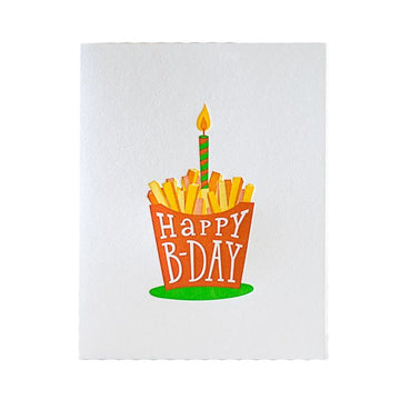 French Fries Birthday Card