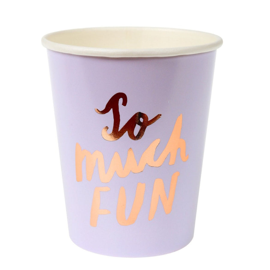 rose gold so much fun purple paper cup