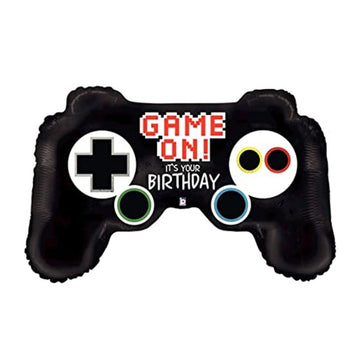 game on it's your birthday video game controller balloon