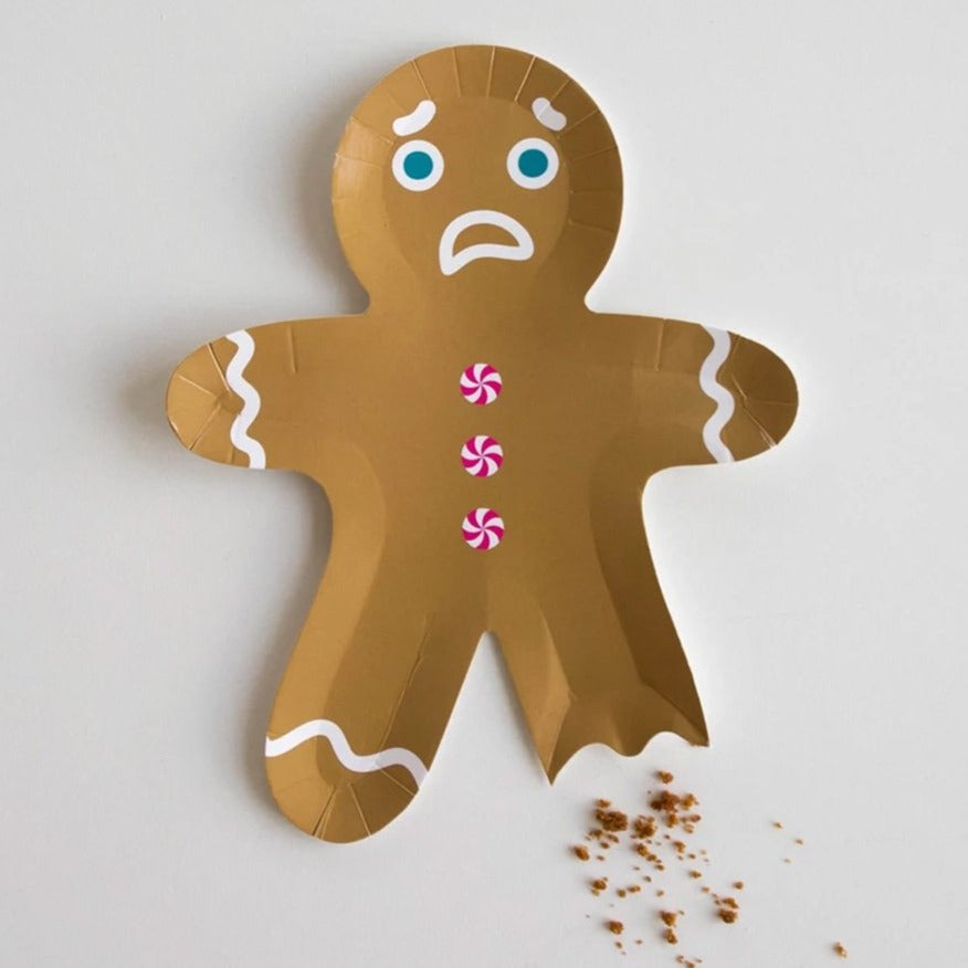 ginger bread man paper plate