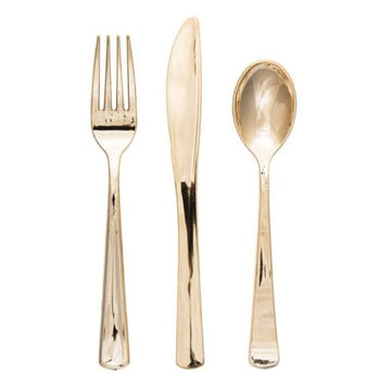 Gold Cutlery - Fork, Spoon, Knife