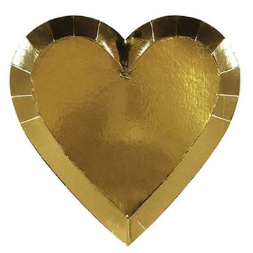 Gold Heart Plates