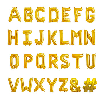 Gold Small Letter Balloons (Air-filled)