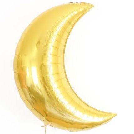 gold crescent moon balloon