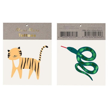 tiger snake temporary tattoos