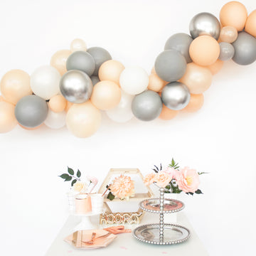 Balloon Garland DIY Kit in Grey & Blush