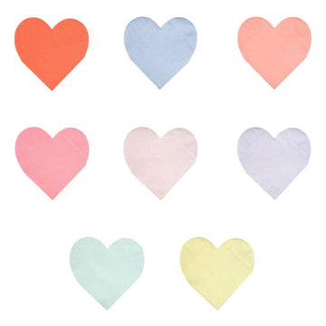 Pastel Heart Shape Napkins