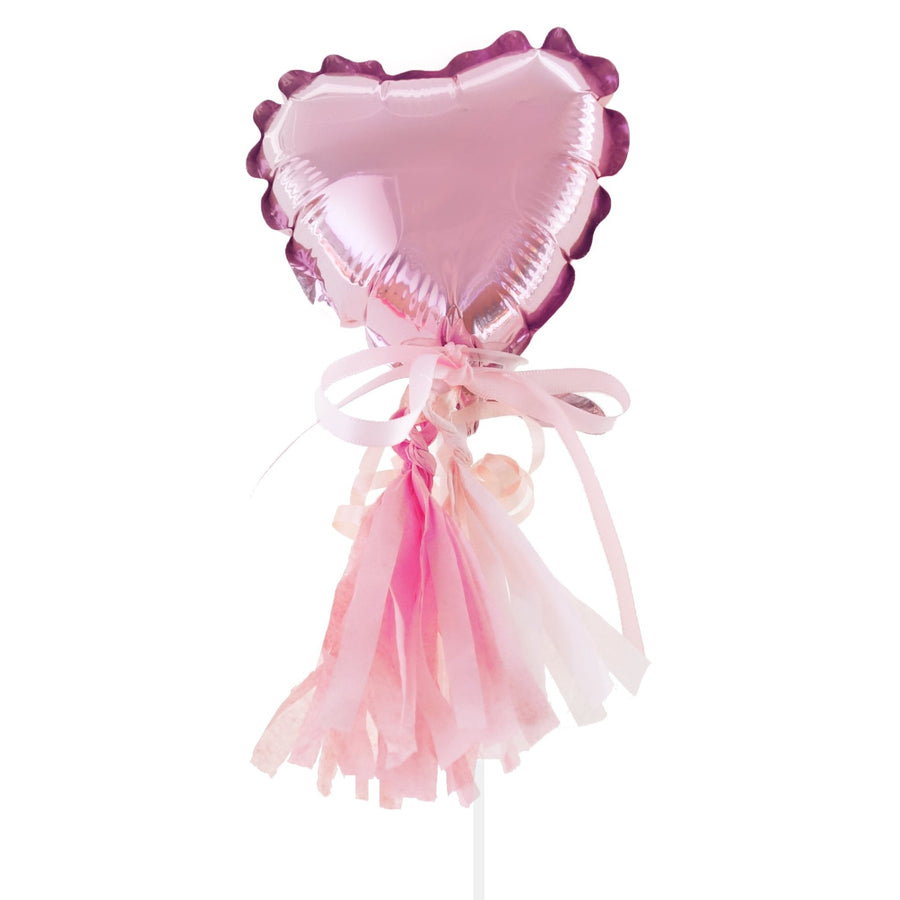 heart balloon with tassels