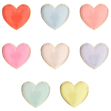 Pastel Heart Shape Plates - Small