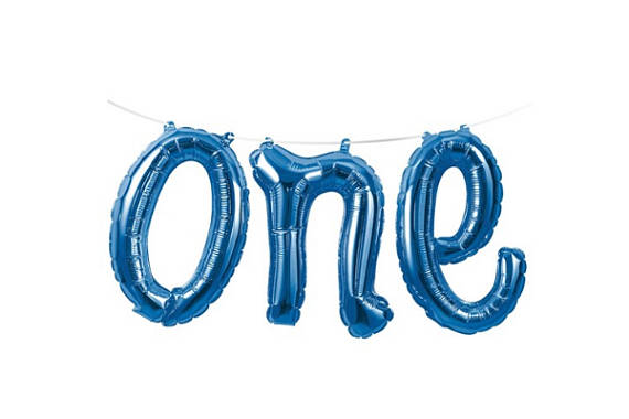 ONE Script Balloon - Blue