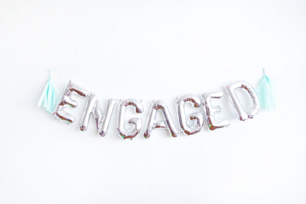 ENGAGED letter balloon kit