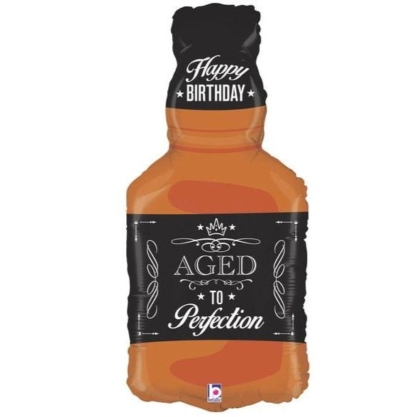 happy birthday aged to perfection whiskey balloon