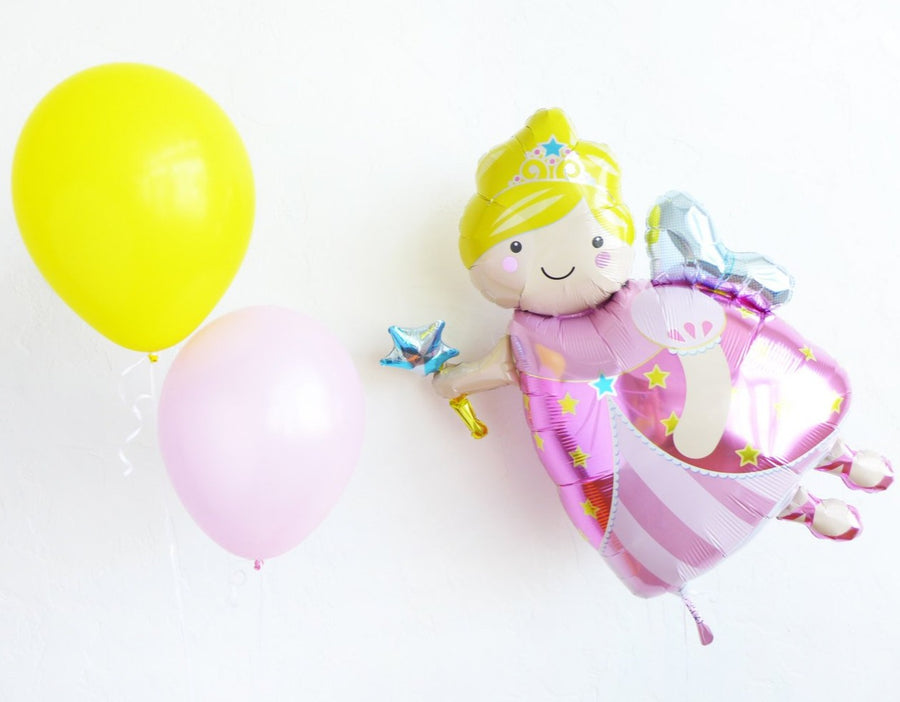 pink yellow balloons fairy