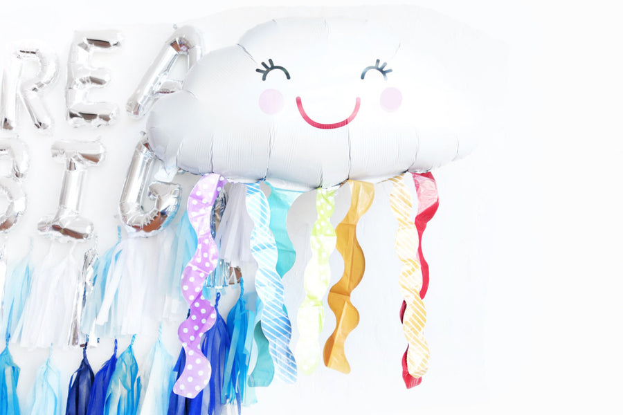 Cloud Rainbow Mylar Balloon