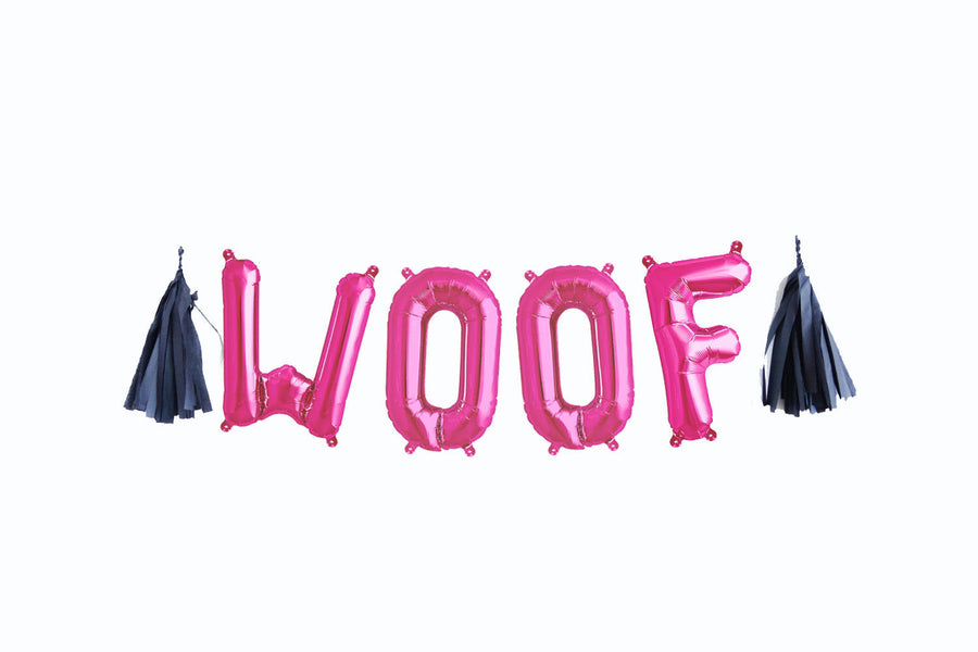 WOOF letter balloon kit