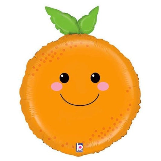 smiling orange balloon