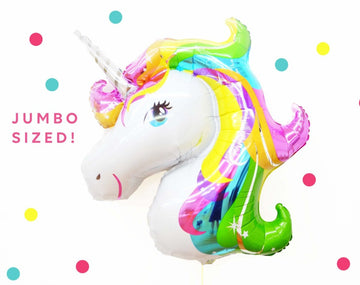 rainbow unicorn balloon