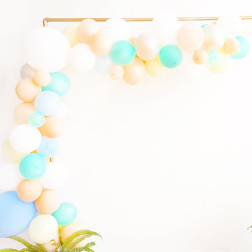 Balloon Garland Kit - Minty Blue and Peach - DIY