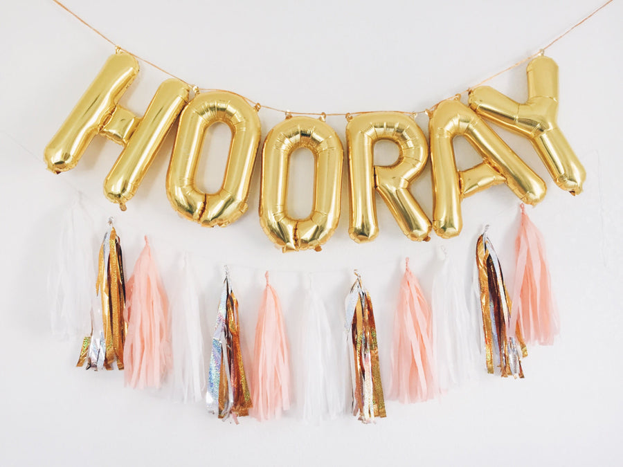 HOORAY letter balloon kit