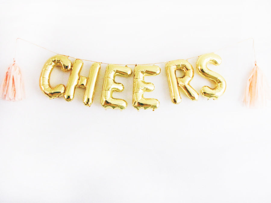 CHEERS letter balloon kit
