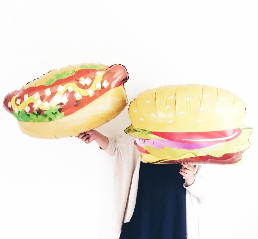 hotdog hamburger balloon