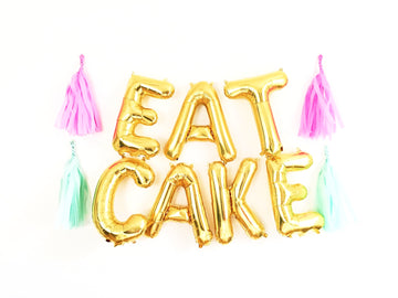 EAT CAKE letter balloon kit
