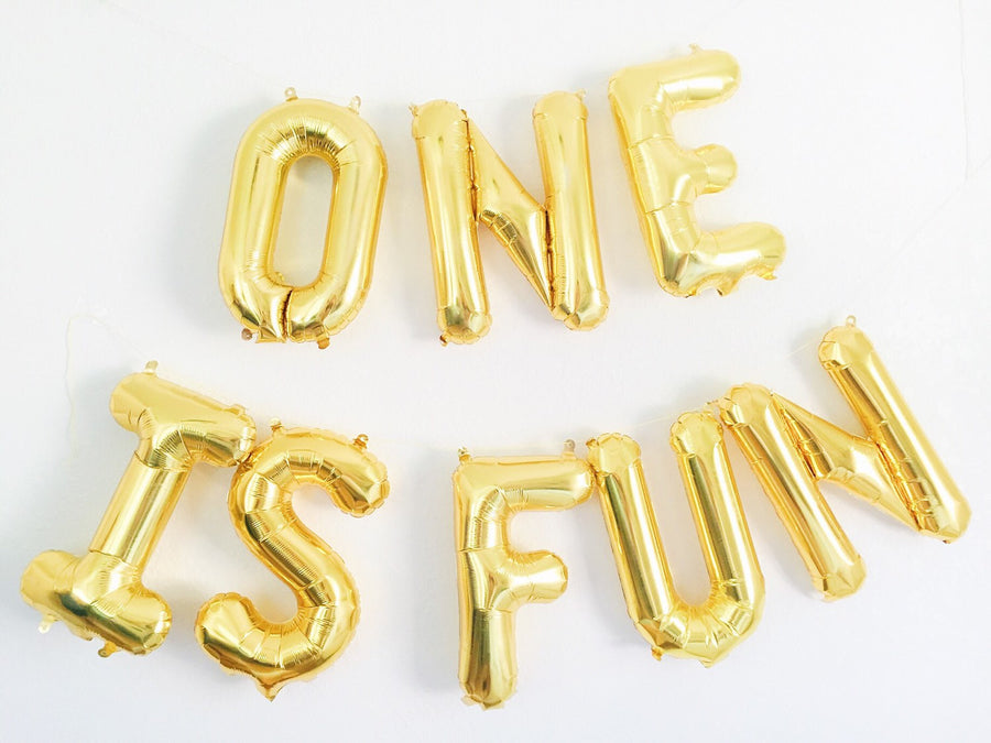 ONE IS FUN letter balloon kit