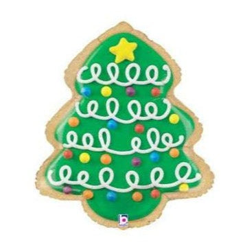 christmas tree cookie balloon
