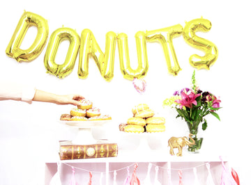 DONUTS letter balloon kit