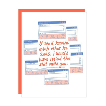 IM message greeting card