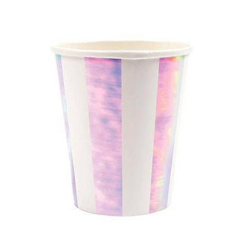 Iridescent Striped Cups