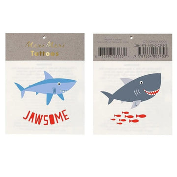 shark temporary tattoos