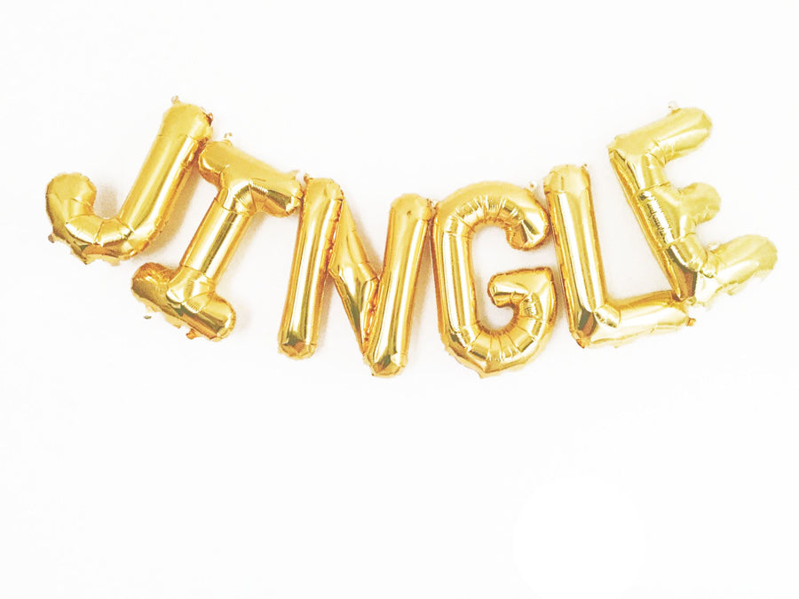 JINGLE letter balloon kit