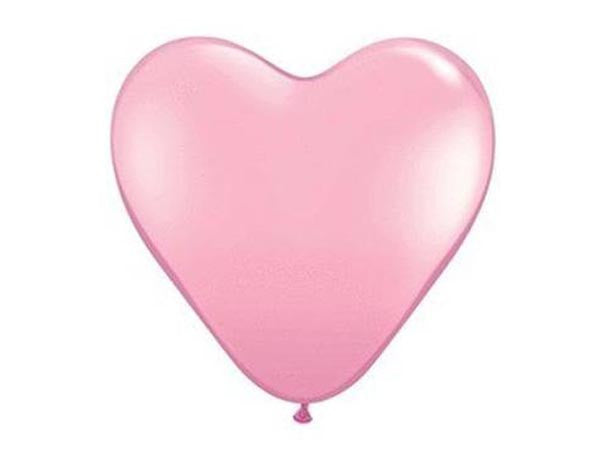 3' Pink Heart Latex Balloon
