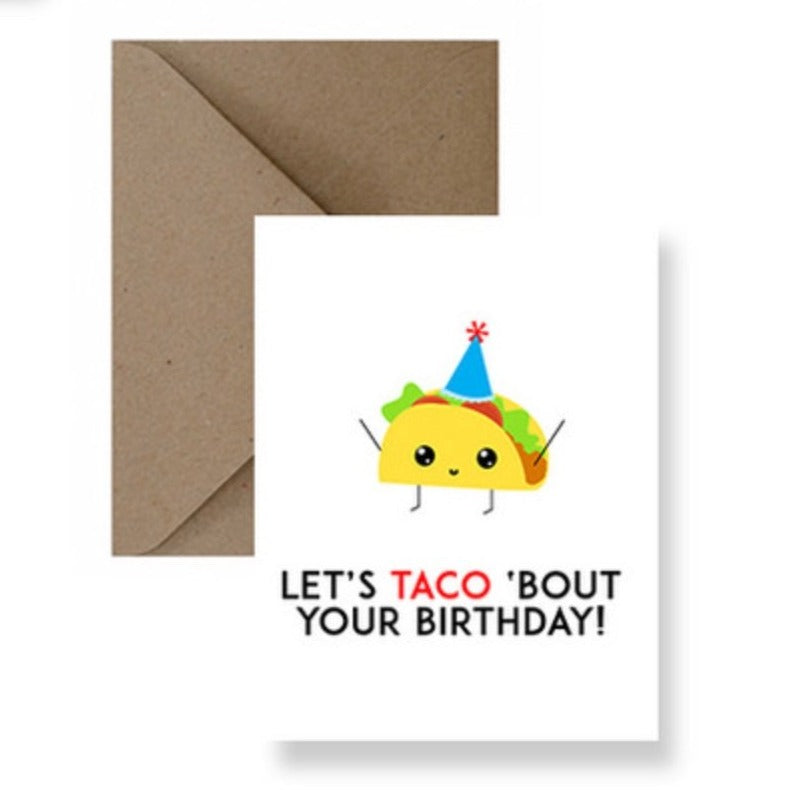 taco bout your birthday greeting card