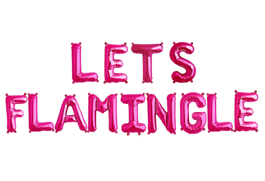 LETS FLAMINGLE letter balloon kit