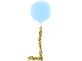 3' Balloon with Gold Tassels