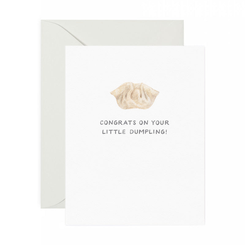 dumpling congrats on baby greeting card