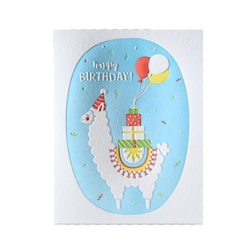 llama birthday greeting card