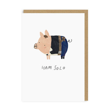ham solo greeting card