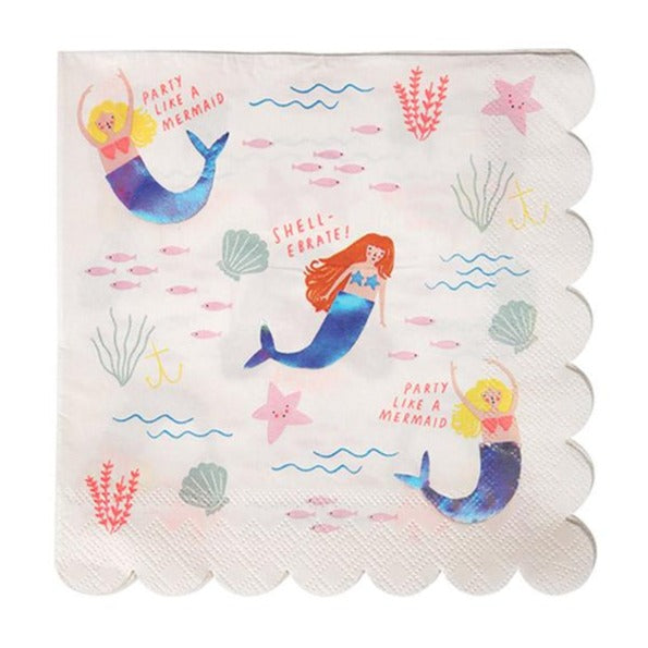 mermaid napkins