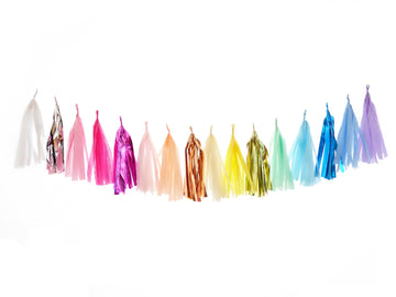 Metallic Rainbow Tassel Garland