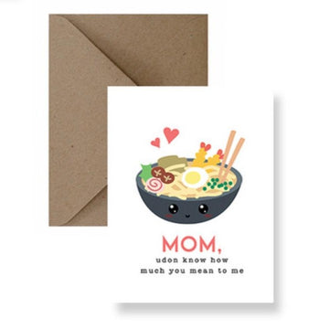 udon know how much you mean to me mom greeting card