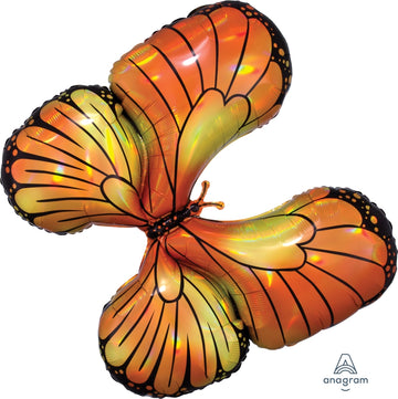 orange monarch butterfly balloon