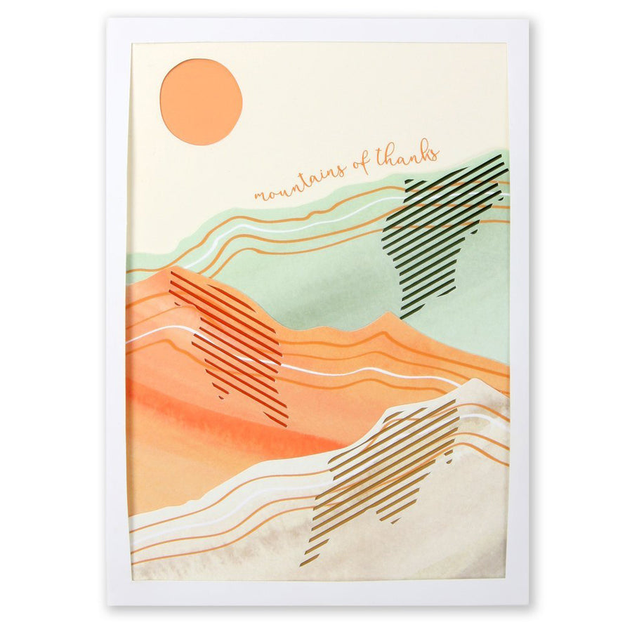 mountains of thanks watercolor thank you card
