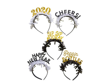 New Years Eve NYE Headbands - 5 pack