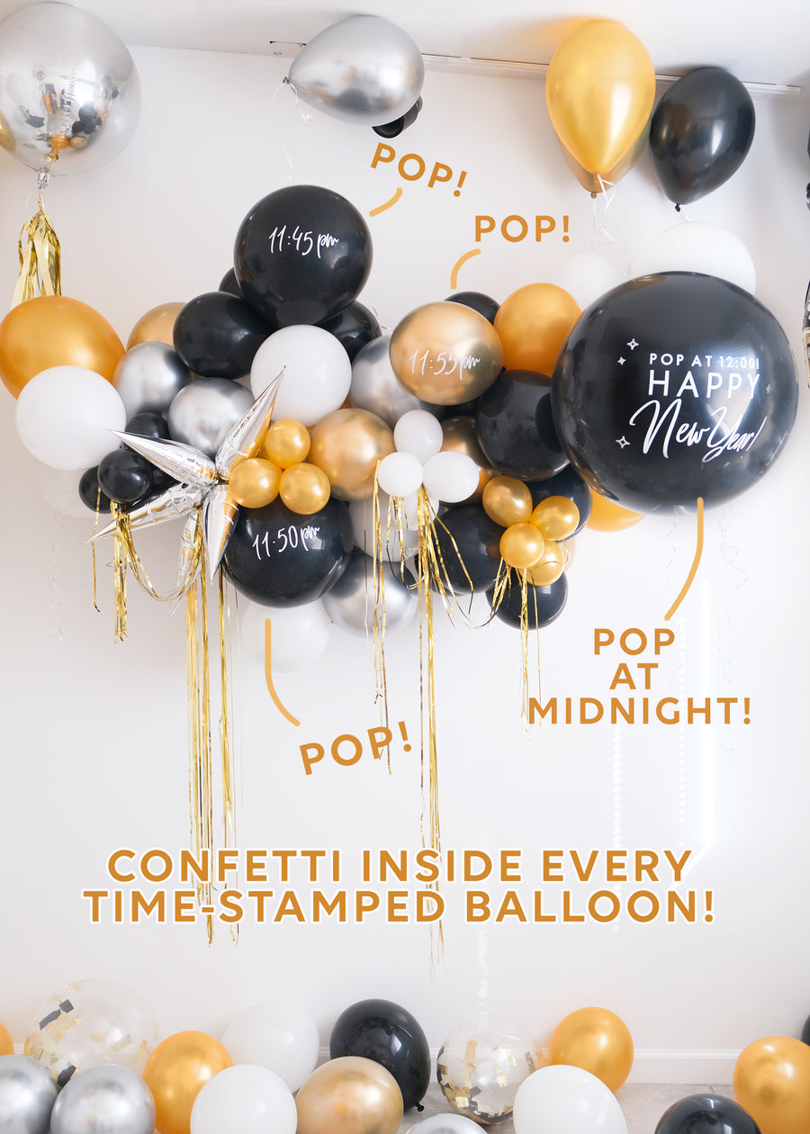 Countdown to Midnight NYE Balloon Garland To-Go