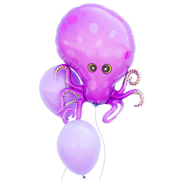 purple octopus balloon