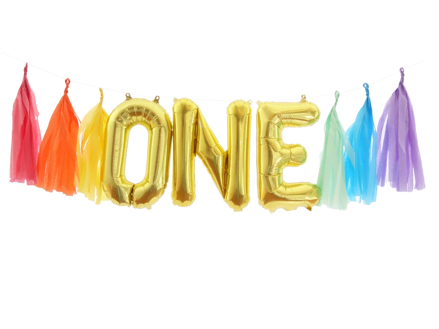 ONE Gold of Balloon Banner Kit